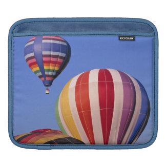 USA, Idaho, Teton Valley. Colorful hot-air iPad Sleeve