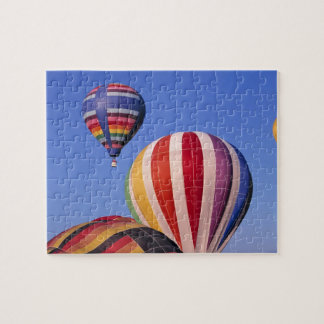 USA, Idaho, Teton Valley. Colorful hot-air Jigsaw Puzzle