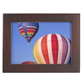 USA, Idaho, Teton Valley. Colorful hot-air Keepsake Box