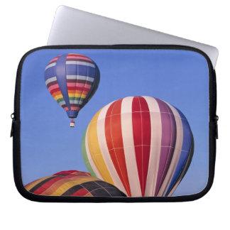 USA, Idaho, Teton Valley. Colorful hot-air Laptop Sleeve