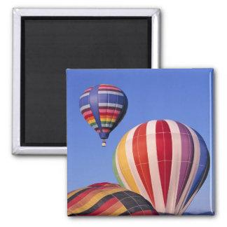 USA, Idaho, Teton Valley. Colorful hot-air Magnet