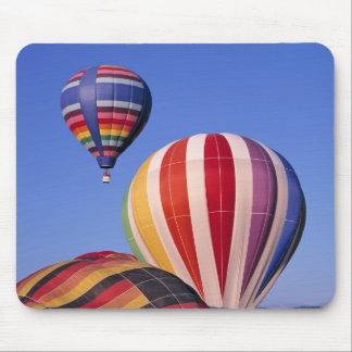 USA, Idaho, Teton Valley. Colorful hot-air Mouse Pad