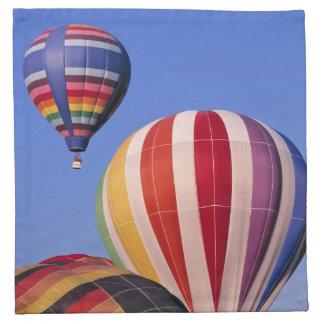 USA, Idaho, Teton Valley. Colorful hot-air Napkin