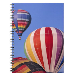 USA, Idaho, Teton Valley. Colorful hot-air Notebook