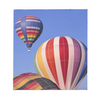USA, Idaho, Teton Valley. Colorful hot-air Notepad