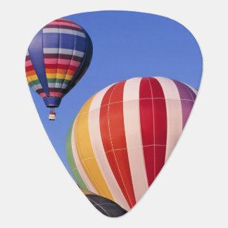 USA, Idaho, Teton Valley. Colorful hot-air Plectrum