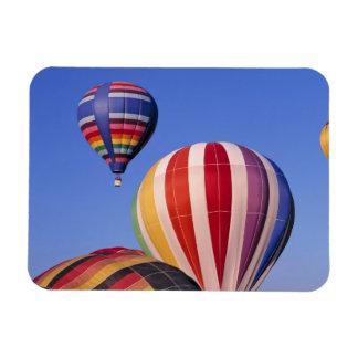 USA, Idaho, Teton Valley. Colorful hot-air Magnets