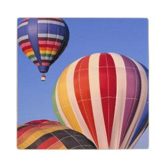 USA, Idaho, Teton Valley. Colorful hot-air Wood Coaster