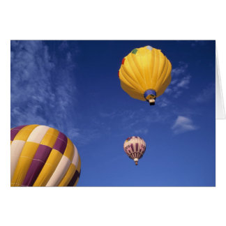 USA, Idaho, Teton Valley. Hot-air balloons Card