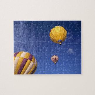 USA, Idaho, Teton Valley. Hot-air balloons Jigsaw Puzzle