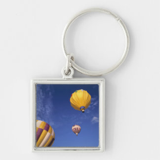 USA, Idaho, Teton Valley. Hot-air balloons Key Ring