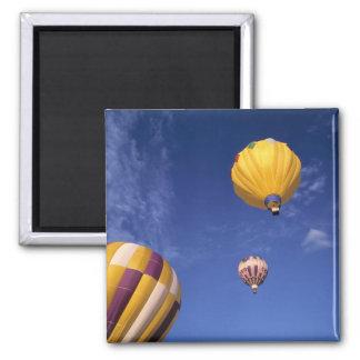 USA, Idaho, Teton Valley. Hot-air balloons Fridge Magnets