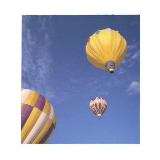 USA, Idaho, Teton Valley. Hot-air balloons Notepad