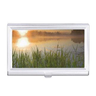 USA, Idaho, Winchester Lake State Park, Lapwai Business Card Holder