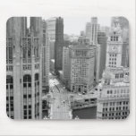 USA, IL, Chicago, Loop from Hotel Mouse Pad