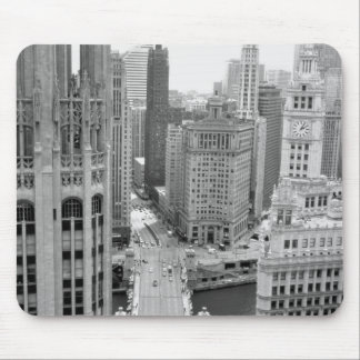 USA IL Chicago Loop from Hotel Mousepads