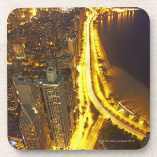 USA, Illinois, aerial view of Chicago at dusk Coaster