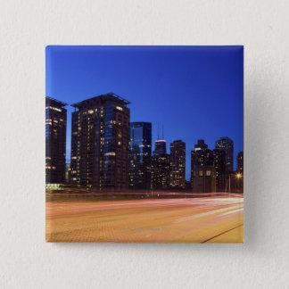 USA, Illinois, Chicago 15 Cm Square Badge