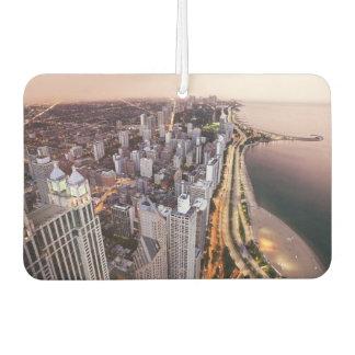 USA, Illinois, Chicago, Aerial view of Lake Car Air Freshener
