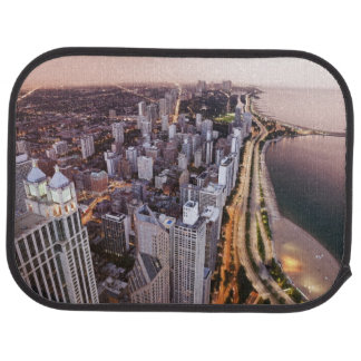 USA, Illinois, Chicago, Aerial view of Lake Car Mat