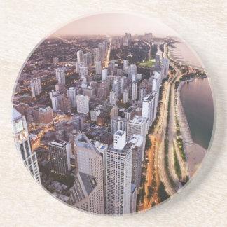 USA, Illinois, Chicago, Aerial view of Lake Coaster