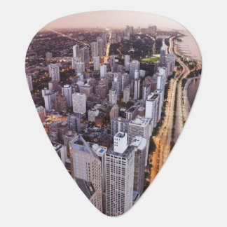 USA, Illinois, Chicago, Aerial view of Lake Guitar Pick