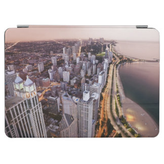 USA, Illinois, Chicago, Aerial view of Lake iPad Air Cover