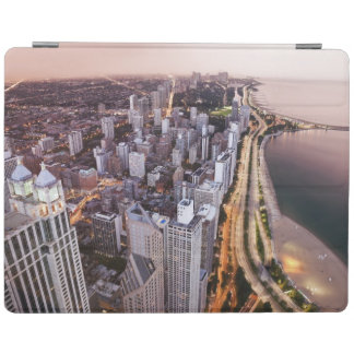 USA, Illinois, Chicago, Aerial view of Lake iPad Cover