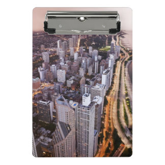 USA, Illinois, Chicago, Aerial view of Lake Mini Clipboard