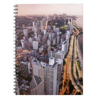 USA, Illinois, Chicago, Aerial view of Lake Notebook