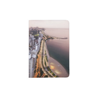 USA, Illinois, Chicago, Aerial view of Lake Passport Holder