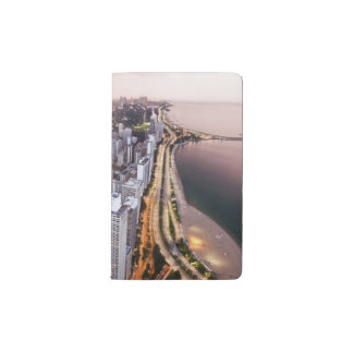 USA, Illinois, Chicago, Aerial view of Lake Pocket Moleskine Notebook