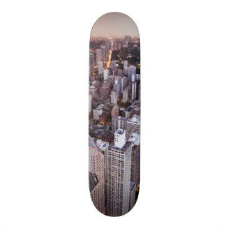 USA, Illinois, Chicago, Aerial view of Lake Skate Deck