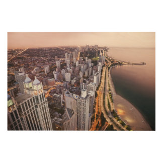 USA, Illinois, Chicago, Aerial view of Lake Wood Wall Art