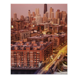 USA, Illinois, Chicago, Chicago River 2 Poster