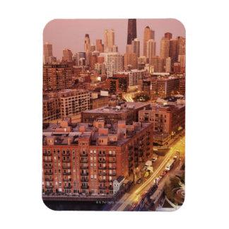 USA, Illinois, Chicago, Chicago River 2 Rectangular Photo Magnet
