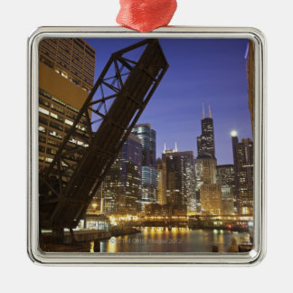 USA, Illinois, Chicago, Chicago River Christmas Ornament
