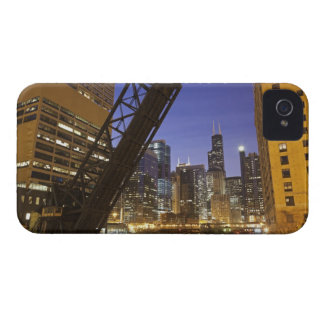 USA, Illinois, Chicago, Chicago River iPhone 4 Case-Mate Cases