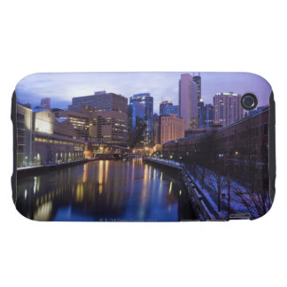 USA, Illinois, Chicago, City reflected in Tough iPhone 3 Covers