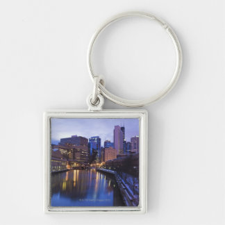 USA, Illinois, Chicago, City reflected in Key Ring