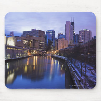 USA, Illinois, Chicago, City reflected in Mouse Mat
