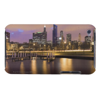USA, Illinois, Chicago, City skyline and marina Barely There iPod Covers