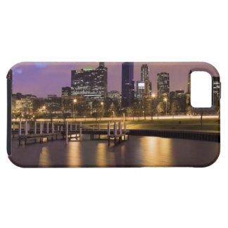 USA, Illinois, Chicago, City skyline and marina iPhone 5 Cover