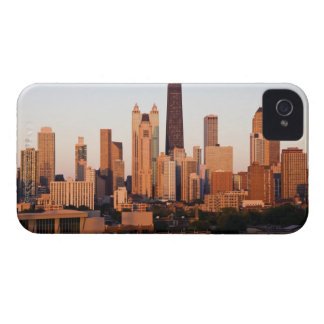 USA, Illinois, Chicago, City skyline at sunset iPhone 4 Case-Mate Case