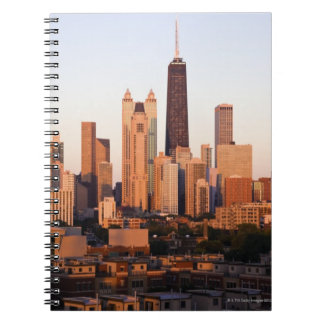 USA, Illinois, Chicago, City skyline at sunset Notebooks
