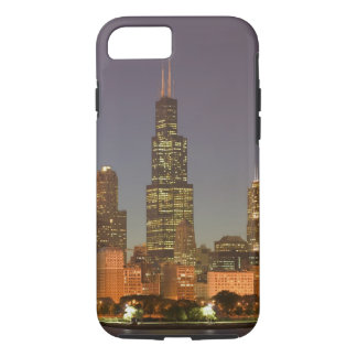 USA, Illinois, Chicago: City Skyline / Evening iPhone 8/7 Case