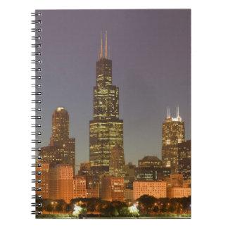 USA, Illinois, Chicago: City Skyline / Evening Notebooks
