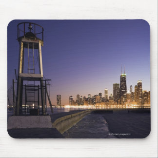 USA, Illinois, Chicago, City skyline from Lake 2 Mouse Mat