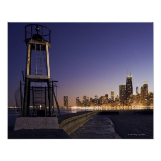 USA, Illinois, Chicago, City skyline from Lake 2 Poster