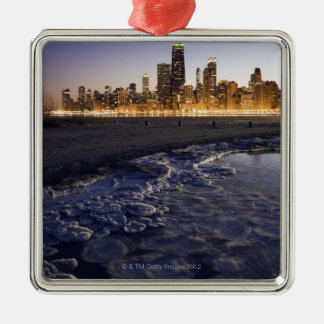 USA, Illinois, Chicago, City skyline from Lake Christmas Ornament